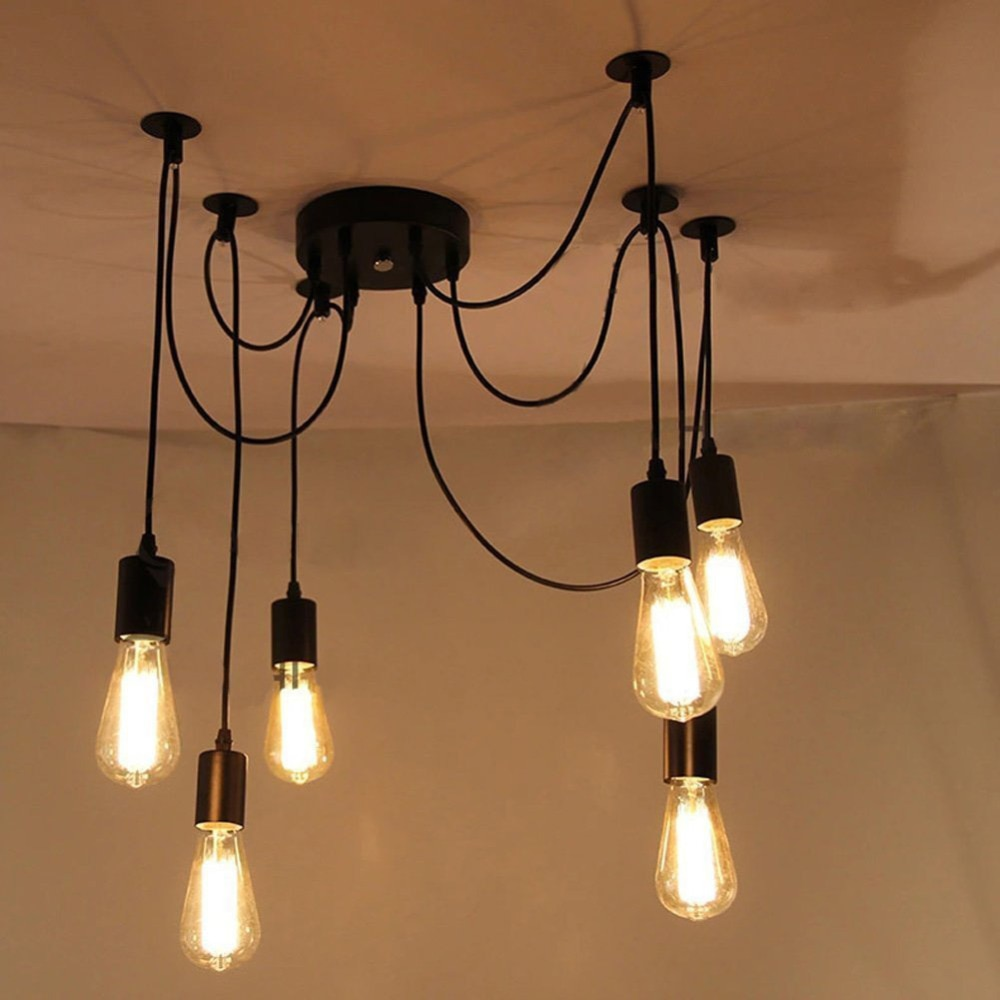 Awesome Good Looking Eletrical Wire Pendant Light With 6 Heads E27 Pendant Wiring Cloud Loplapiotaidewilluminateatxorg