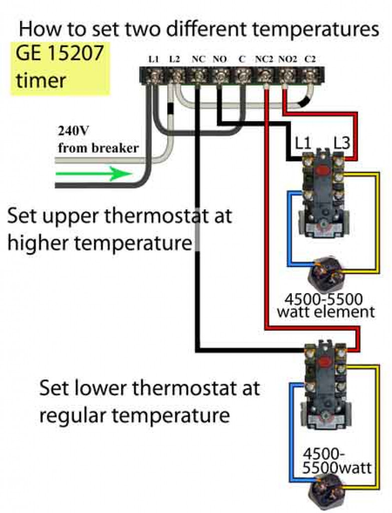 Water Heater Upper Thermostat Wiring Diagram