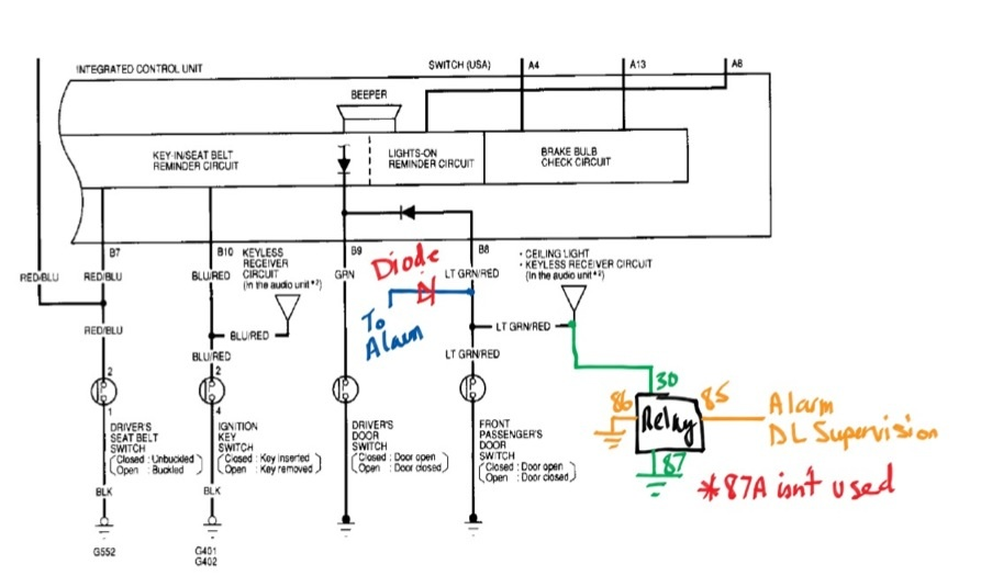 Terrific 2000 Honda Civic Alarm Wiring Wiring Diagram Wiring Cloud Eachibarepbarbamohammedshrineorg