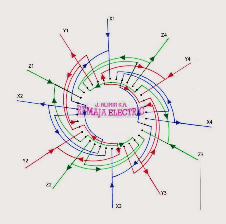 Electric Motor Winding Wiring Diagram