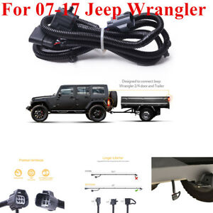 Magnificent For 07 17 Jeep Wrangler Jk 2 4 65 Trailer Hitch Wiring Harness Wiring Cloud Staixaidewilluminateatxorg