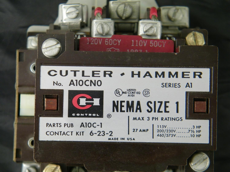Cutler Hammer Overload Relay Chart
