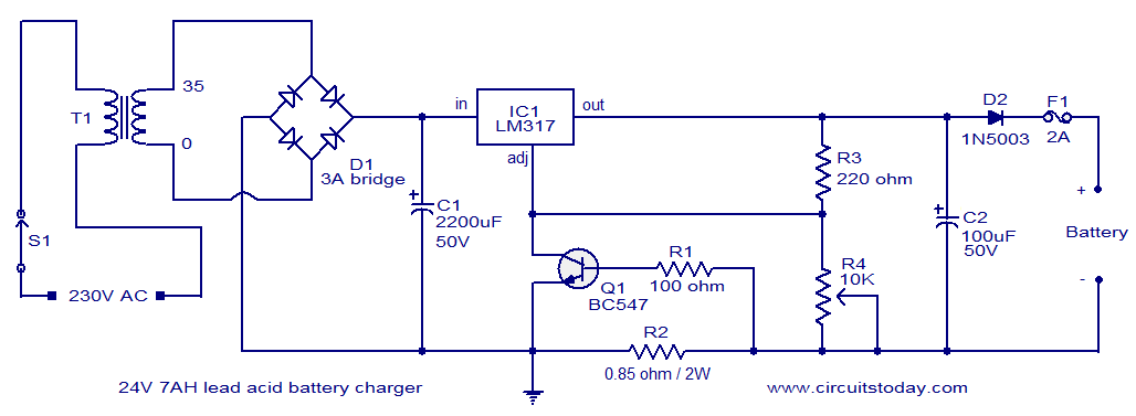 Prime 24V Lead Acid Battery Charger Circuit Electronic Circuits And Wiring Cloud Icalpermsplehendilmohammedshrineorg