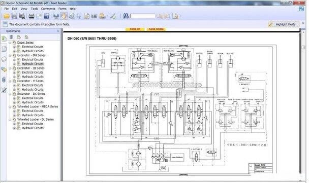 Pleasant Doosan Electrical Circuits Hydraulic Circuits All Model On Wiring Cloud Eachirenstrafr09Org