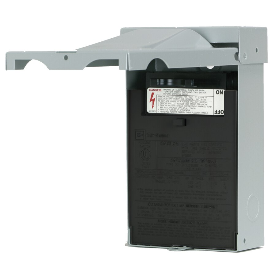 Cool Eaton 60 Amp Fusible Metallic Disconnect At Lowes Com Wiring Cloud Grayisramohammedshrineorg