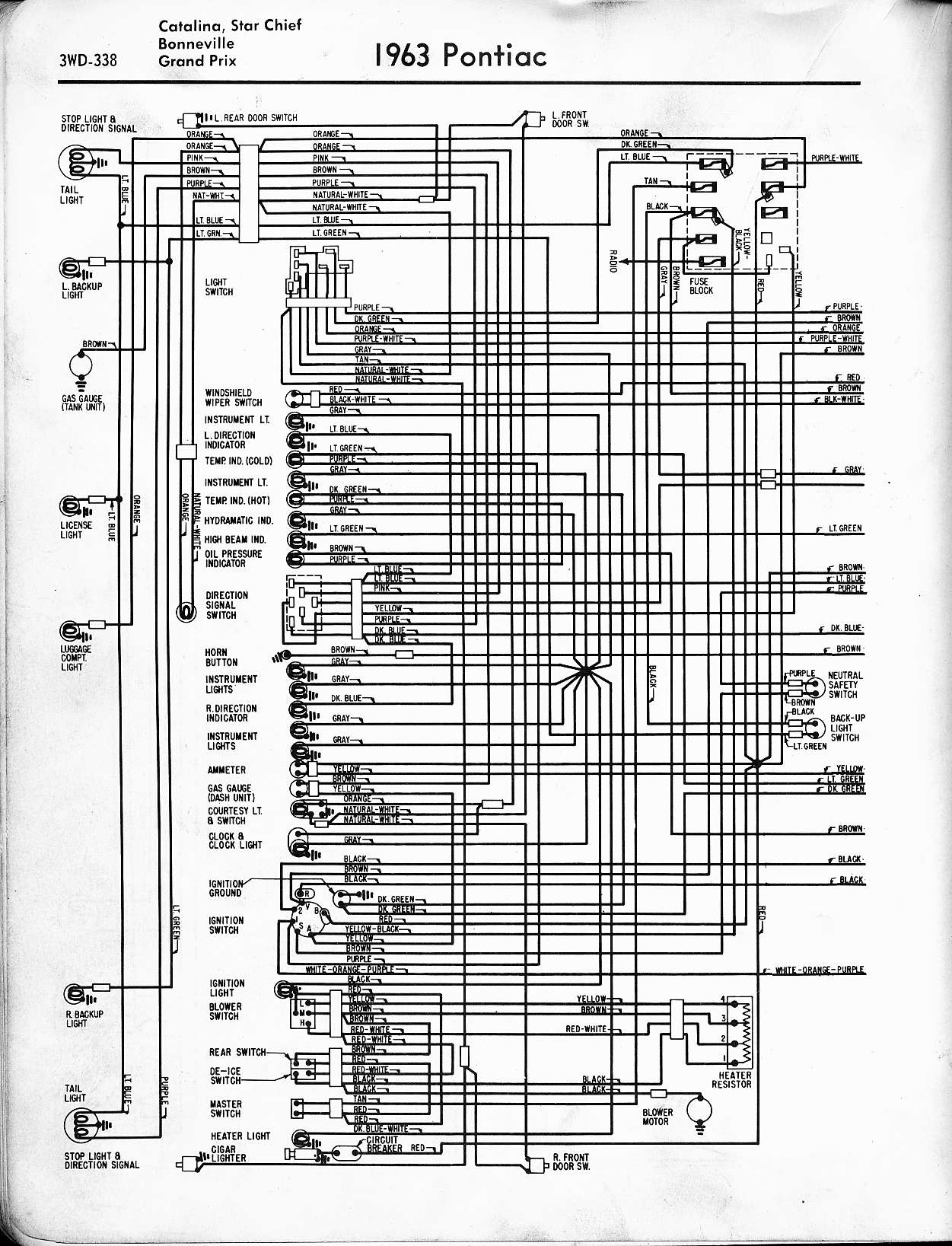 1970 Pontiac Tempest Wiring Diagram Schematic