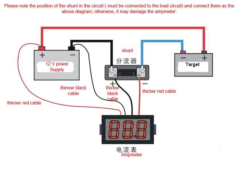 12 Volt Amp Meter Wiring Diagram