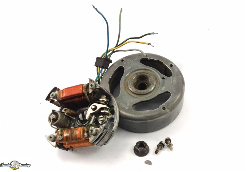 Fabulous Puch Moped E50 5 Wire Magneto Assembly Complete Wiring Cloud Mousmenurrecoveryedborg