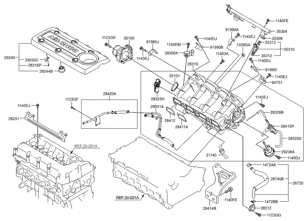 ZR_7952] Hyundai Santa Fe Cylinder Head Schematics Diagram Car Parts Diagram  Free Diagram