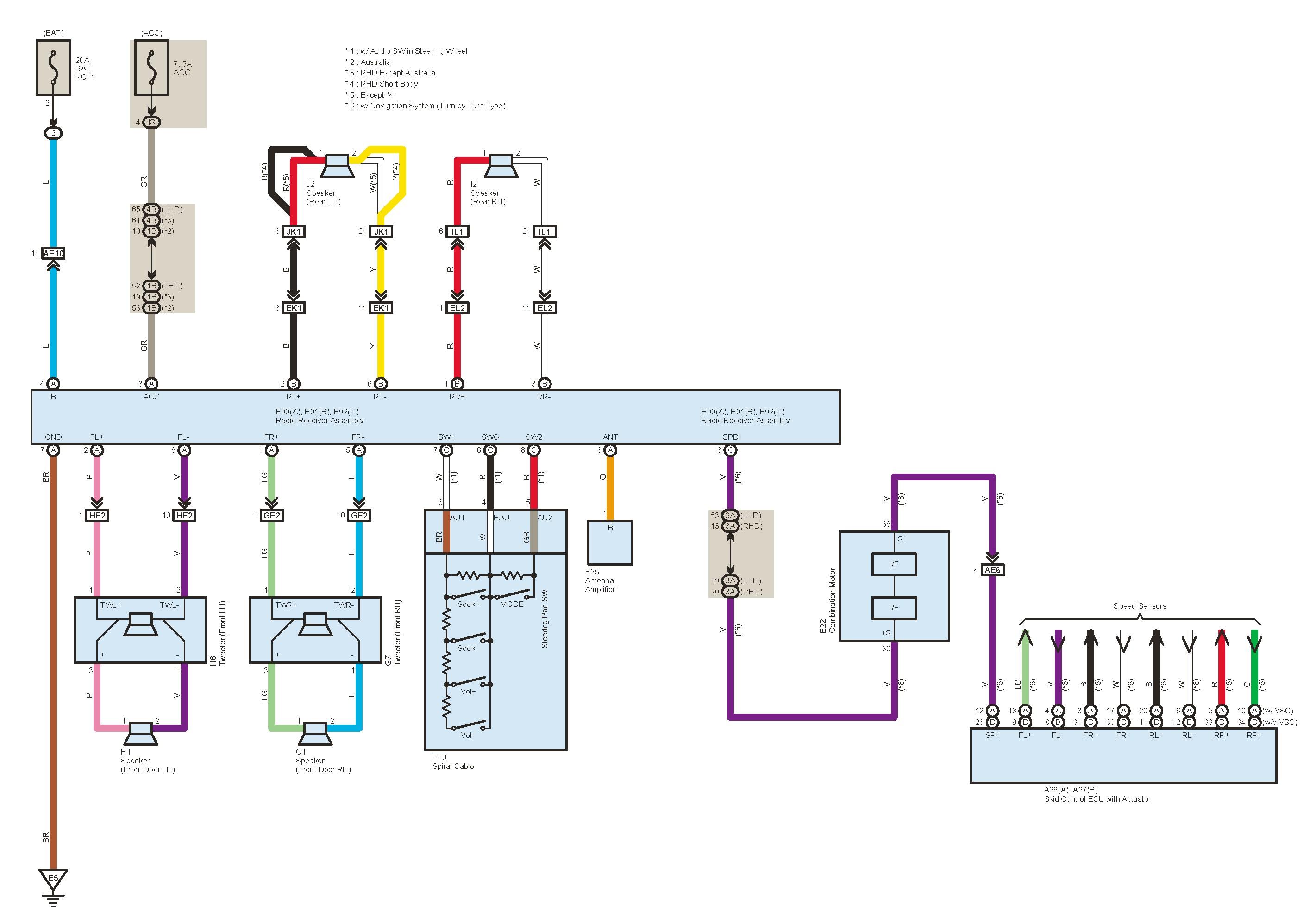 2006 Toyota Highlander Hybrid Radio Wiring Diagram