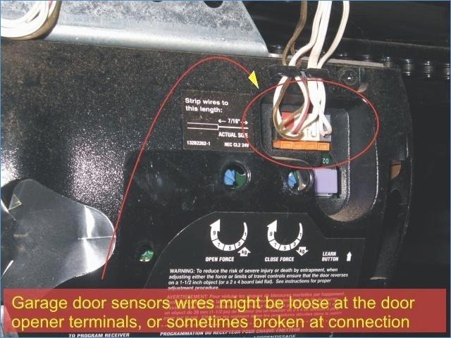 Incredible Craftsman Garage Door Opener Sensor Wiring Diagram Intended For Wiring Cloud Licukshollocom