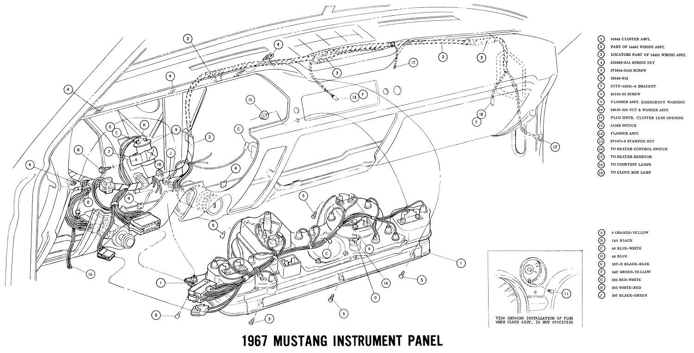 Pleasant 1967 Mustang Wiring And Vacuum Diagrams Average Joe Restoration Wiring Cloud Eachirenstrafr09Org