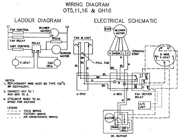 reznor waste oil furnace thermostat wiring  hino fuel