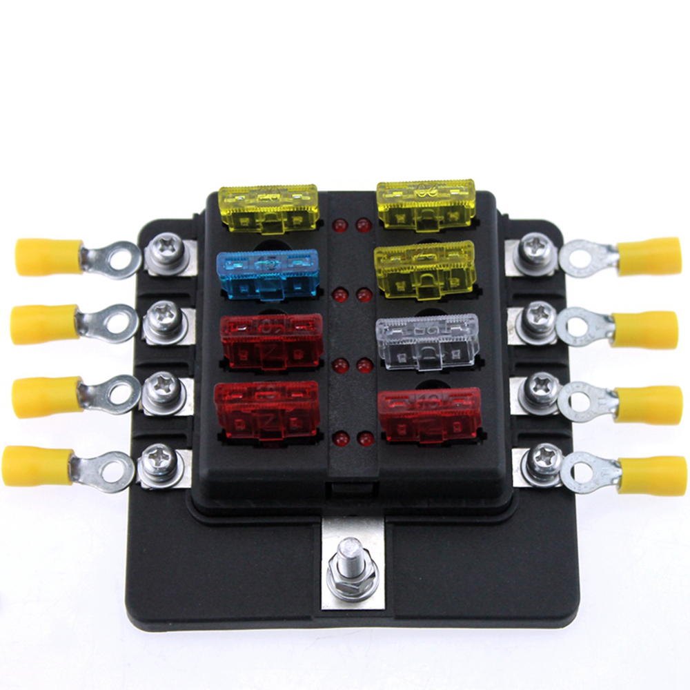 Brilliant Newest 8 Way Blade Fuse Box Led Indicator Fuse Block For Automotive Wiring Cloud Rineaidewilluminateatxorg