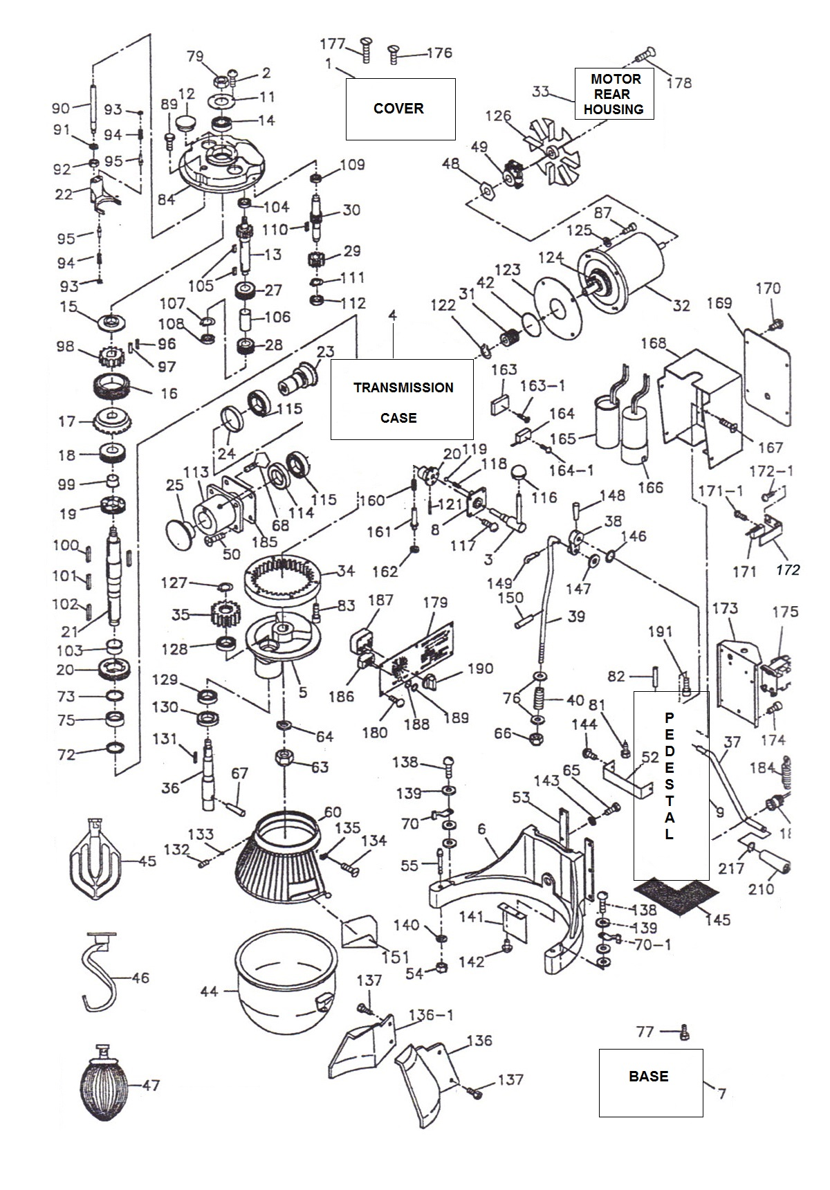 Wiring Diagram Hobart A 200 Mixer
