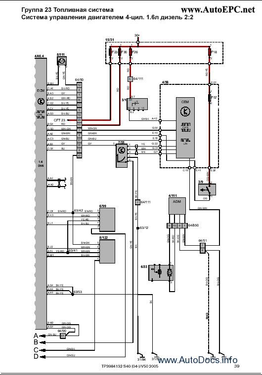 Volvo Wiring Diagram S40 Schematic