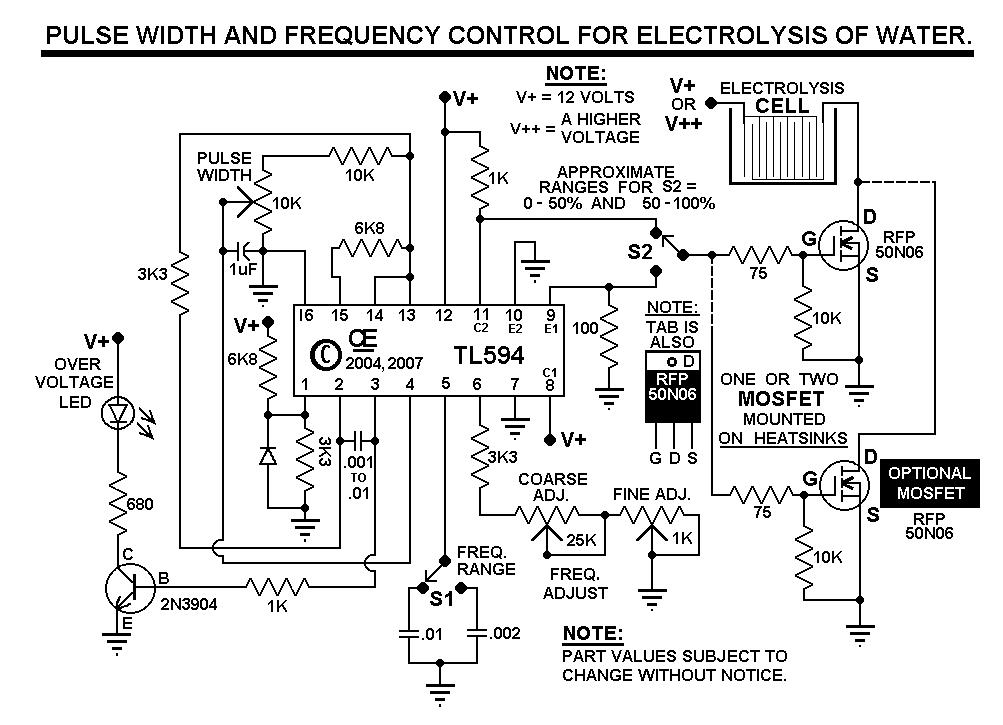 yk4172 variable frequency pwm circuit free diagram