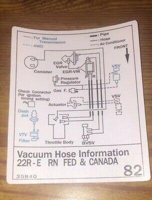 rx1747 toyota pickup vacuum diagram on 93 toyota 4x4 pick