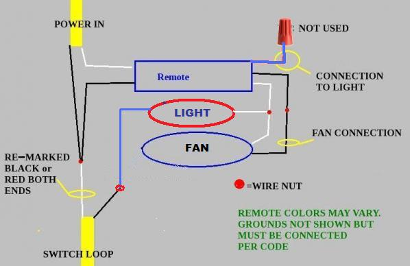 Dual Switch Hunter Ceiling Fan Wiring Diagram With Remote