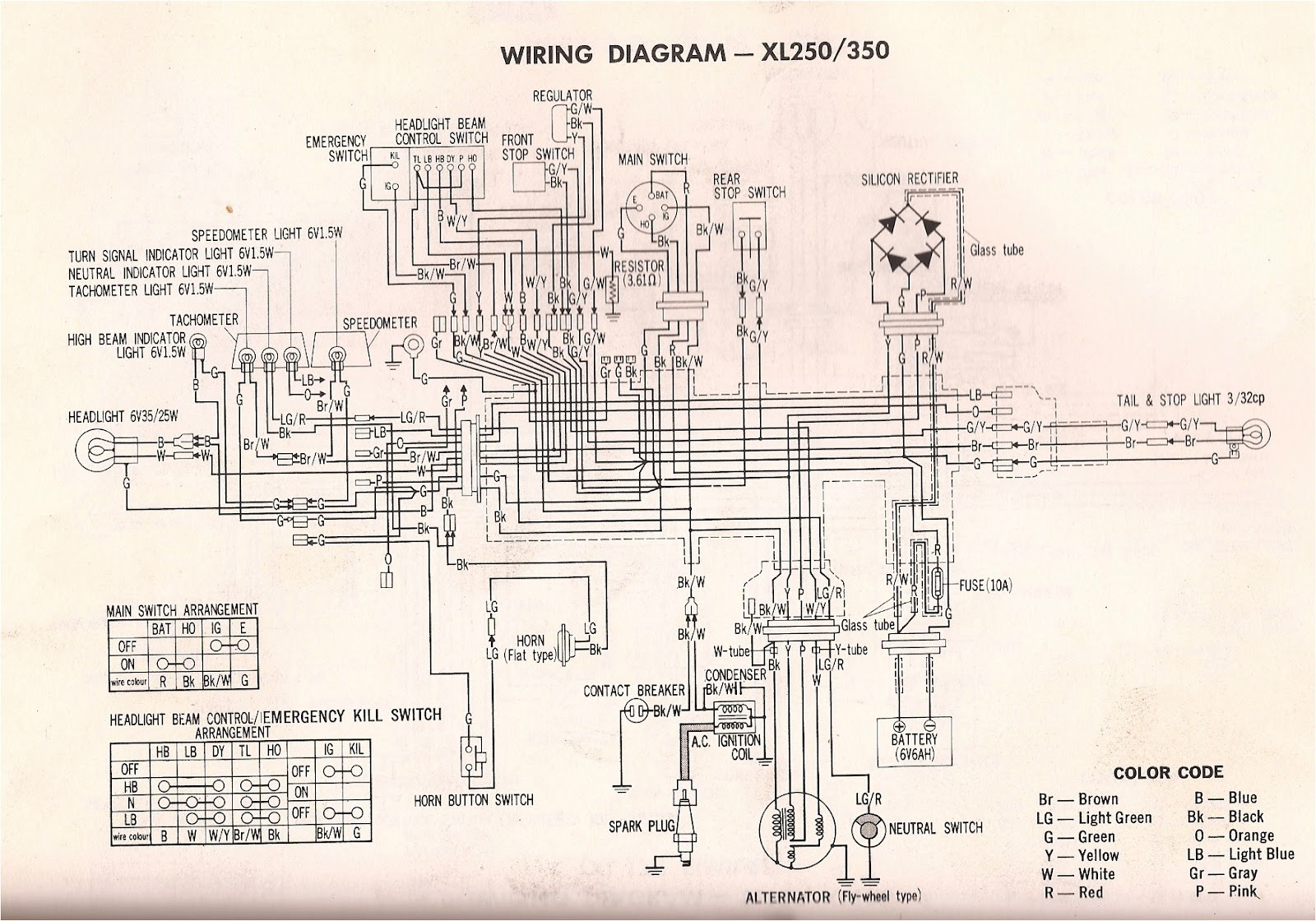40 Honda Xr40l Wiring Diagram   Highbeam Wiring Diagram ...