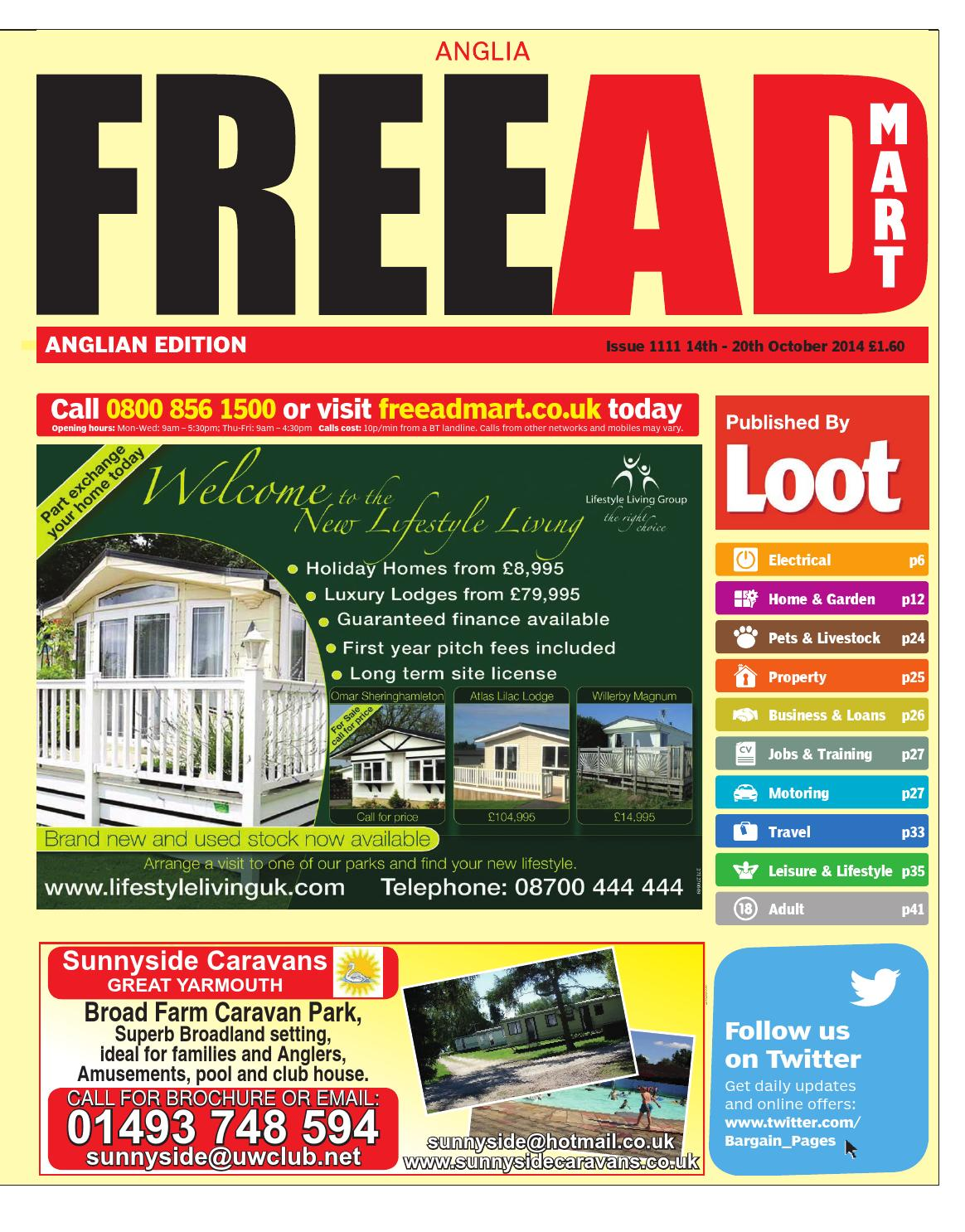 Miraculous Free Ad Mart Anglian 14Th October 2014 By Loot Issuu Wiring Cloud Overrenstrafr09Org