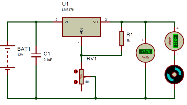 Brilliant Circuit Using Lm317 Variable Voltage Regulator Circuits In 2019 Wiring Cloud Hisonepsysticxongrecoveryedborg