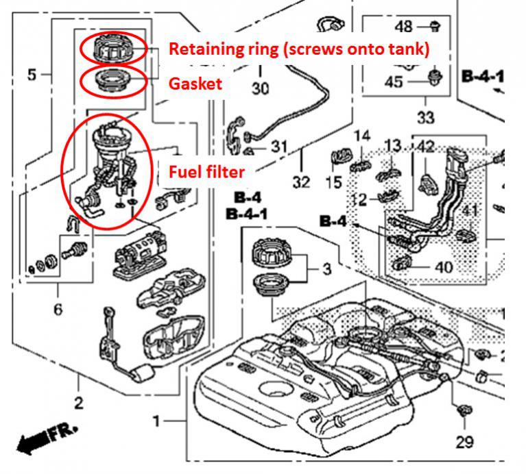 2004 Honda Wiring Diagram Fuel   2004 Honda Cr V Engine