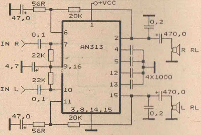 Super Schematic Audio Amplifier With Ic An313 Wiring Diagram Remote Control Wiring Cloud Hemtegremohammedshrineorg