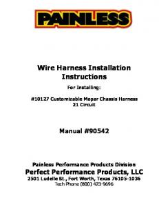 Marvelous Installation Instructions For Gm 4L80E External Harness 350 0033 Wiring Cloud Monangrecoveryedborg