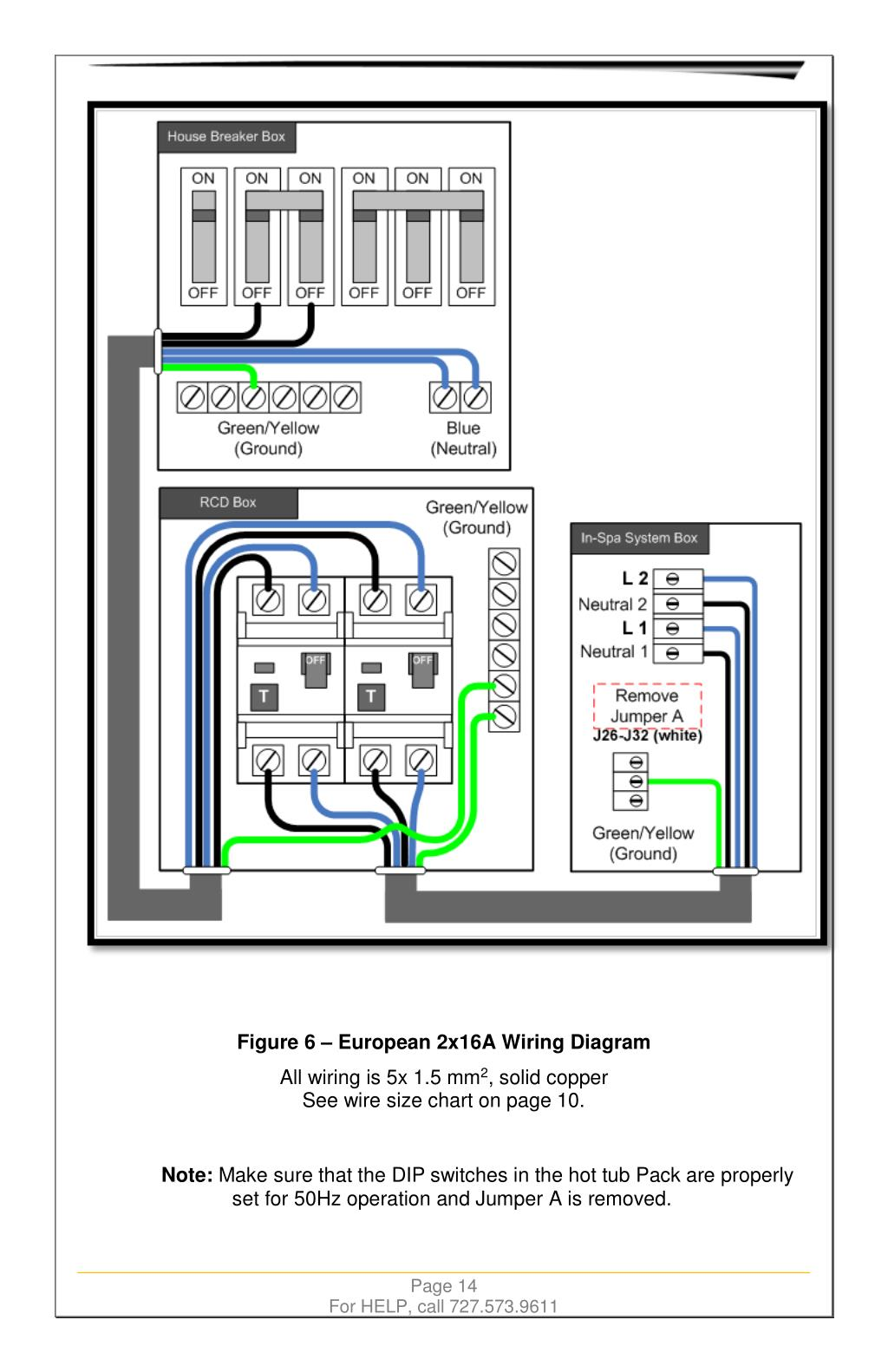 Hot Tub Wiring Code