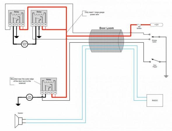 Zn 9283 Autoloc Shaved Door Kit Wiring Diagram Schematic Wiring