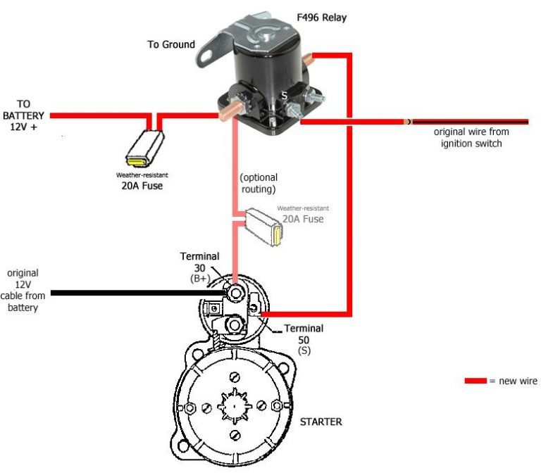 CH_6358] Starter Wiring Diagram Together With Chevy High Torque Starter In  Free Diagram