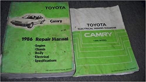 Magnificent 1986 Toyota Camry Service Repair Shop Workshop Manual Set 86 W Wiring Cloud Rdonaheevemohammedshrineorg