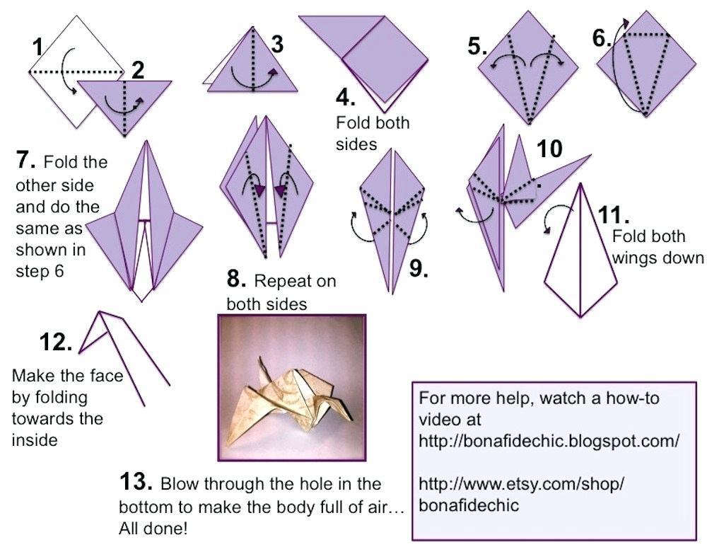 TUTORIAL: Origami Crane by AmuTsukiyomi888 on DeviantArt   773x1000