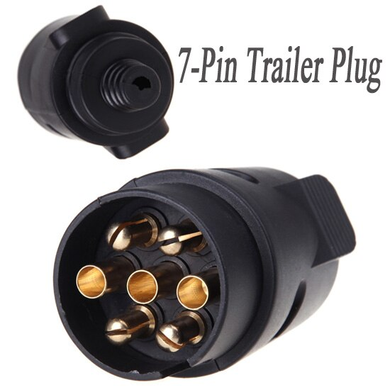 Pleasing 7 Pin Trailer Plug 7 Pole Wiring Connector 12V Towbar Towing Caravan Wiring Cloud Overrenstrafr09Org
