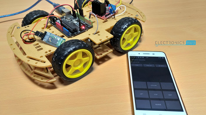 Terrific Bluetooth Controlled Robot Using Arduino Using Arduino Hc 05 L298N Wiring Cloud Lukepaidewilluminateatxorg