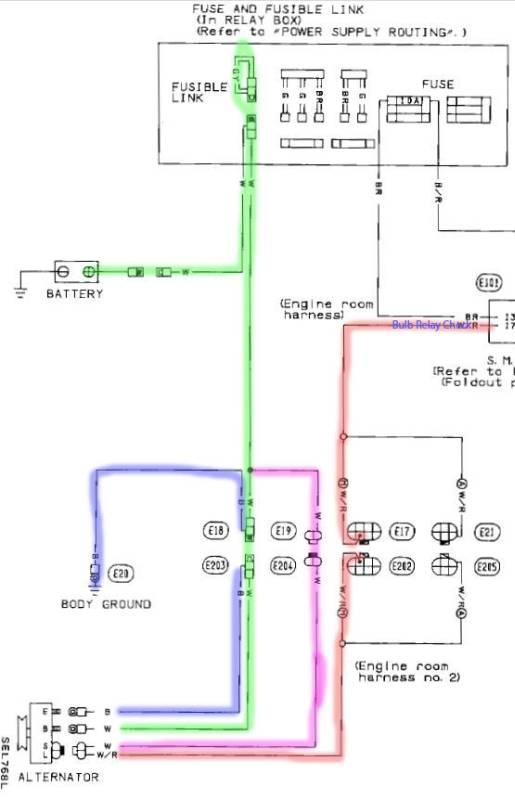alternator wiring diagram nissan re 7850  basic alternator wiring diagram schematic wiring  alternator wiring diagram schematic wiring