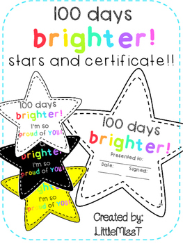 Outstanding 100 Days Brighter Stars Certificate And Poster For 100 Days Of Learning Wiring Cloud Faunaidewilluminateatxorg