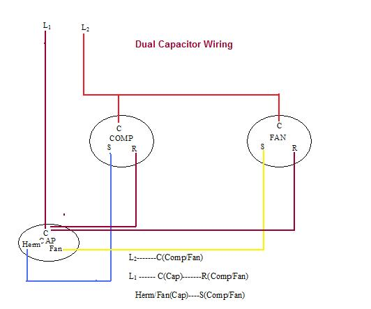 Fabulous Dual Run Capacitor Wiring 24H Schemes Wiring Cloud Gufailluminateatxorg