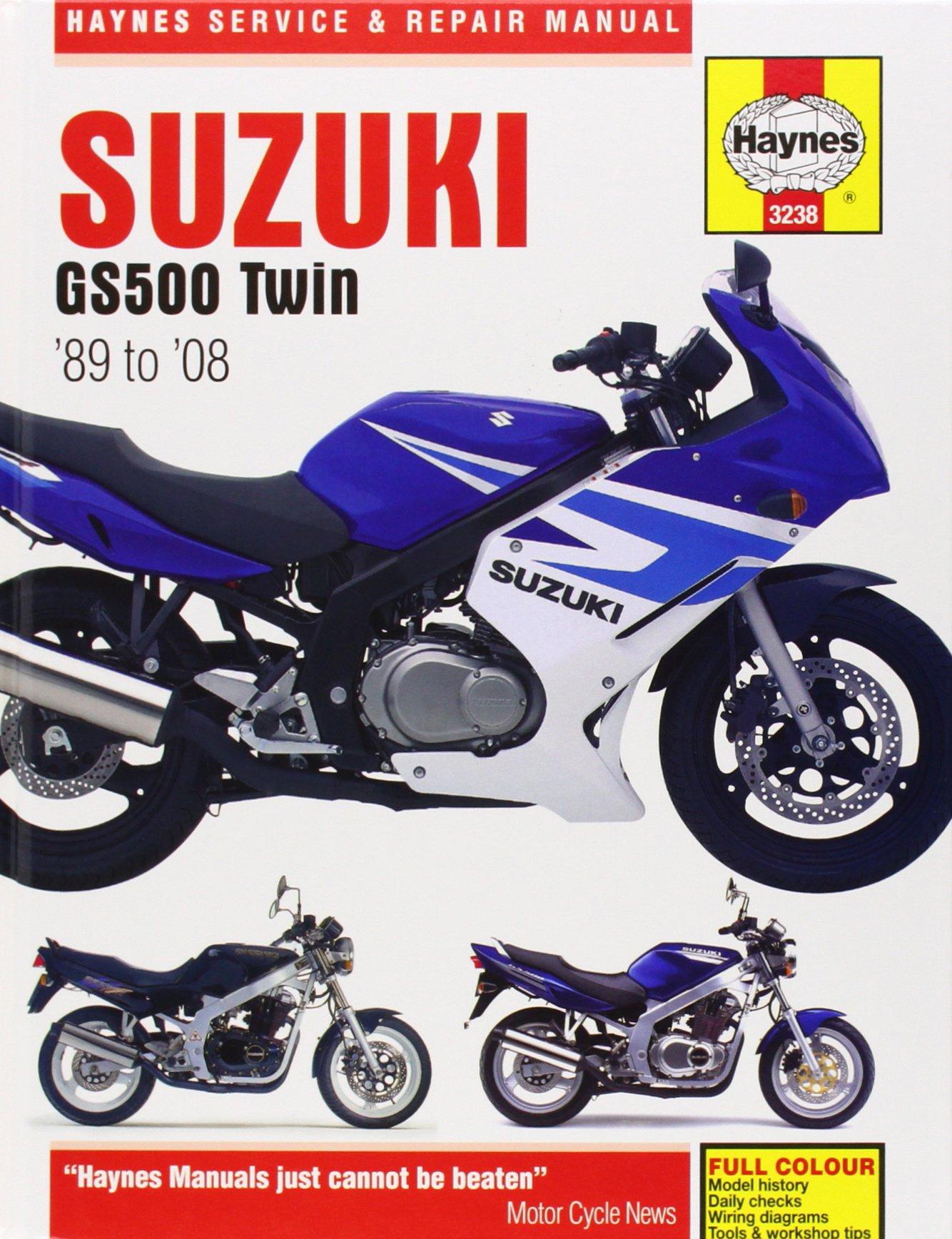 Incredible Suzuki Gs500 Twin 1989 2008 Haynes Service Repair Manual John Wiring Cloud Gufailluminateatxorg