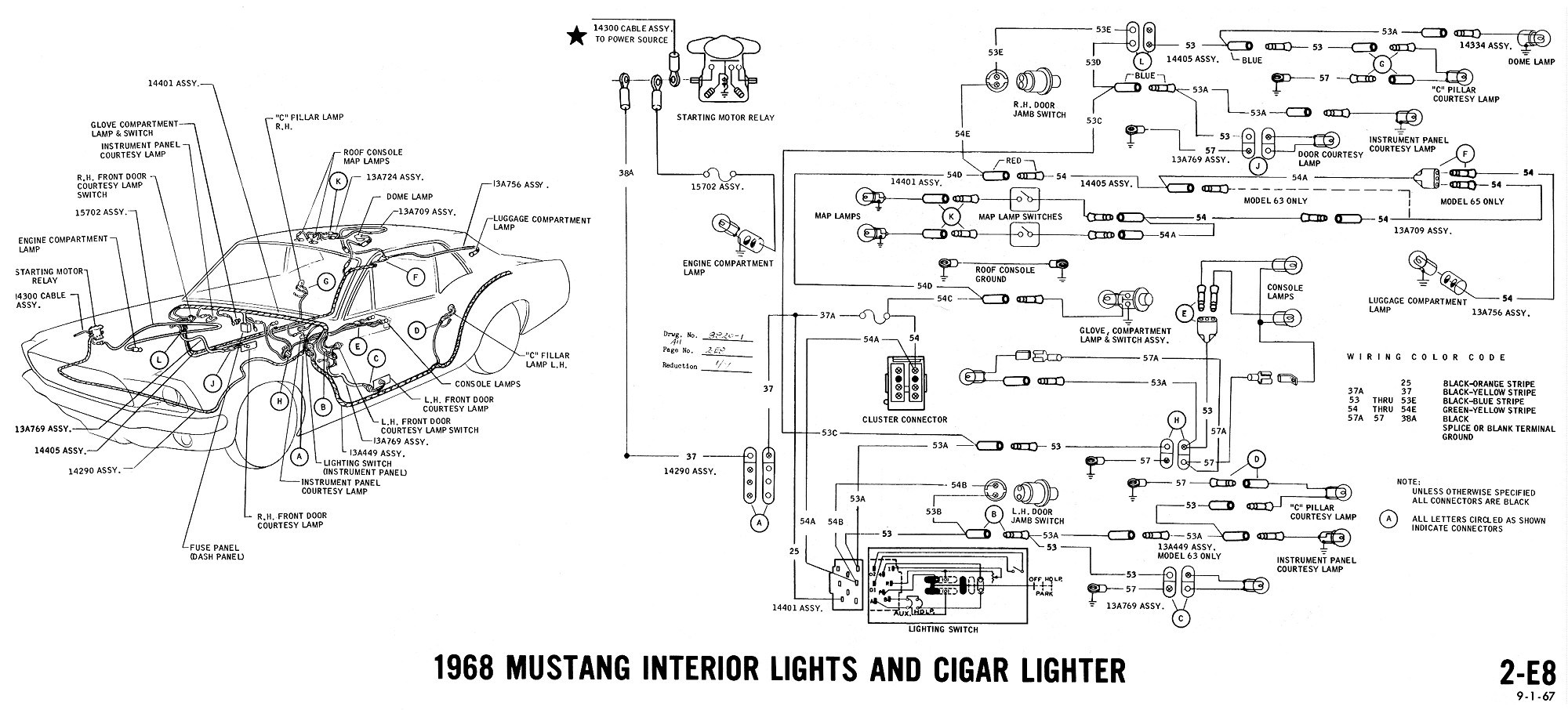 Brilliant Wrg 5461 1968 Ford Mustang Fuse Box Diagram Wiring Cloud Picalendutblikvittorg