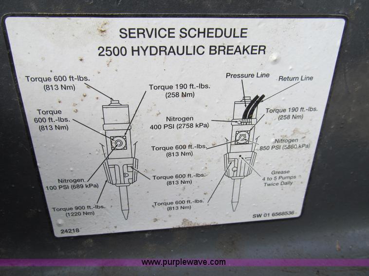 Brilliant Bobcat 2500 6 Hydraulic Breaker Item Ay9955 Sold Januar Wiring Cloud Rdonaheevemohammedshrineorg