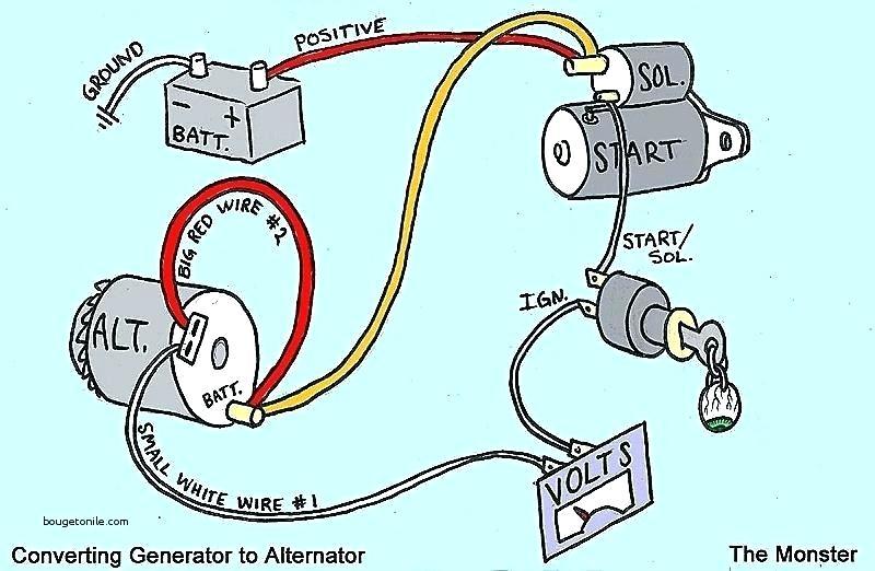 chrysler 1 wire alternator wiring diagram  dodge dakota