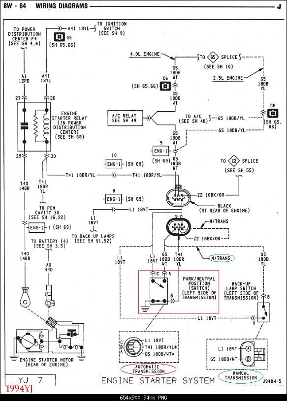 92 jeep wrangler neutral safety switch wiring diagram  1965