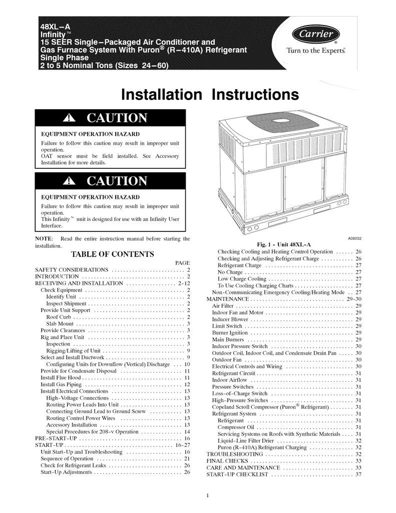 Remarkable Carrier 48Xl Infinity Instruction Manual Manualzz Com Wiring Cloud Waroletkolfr09Org