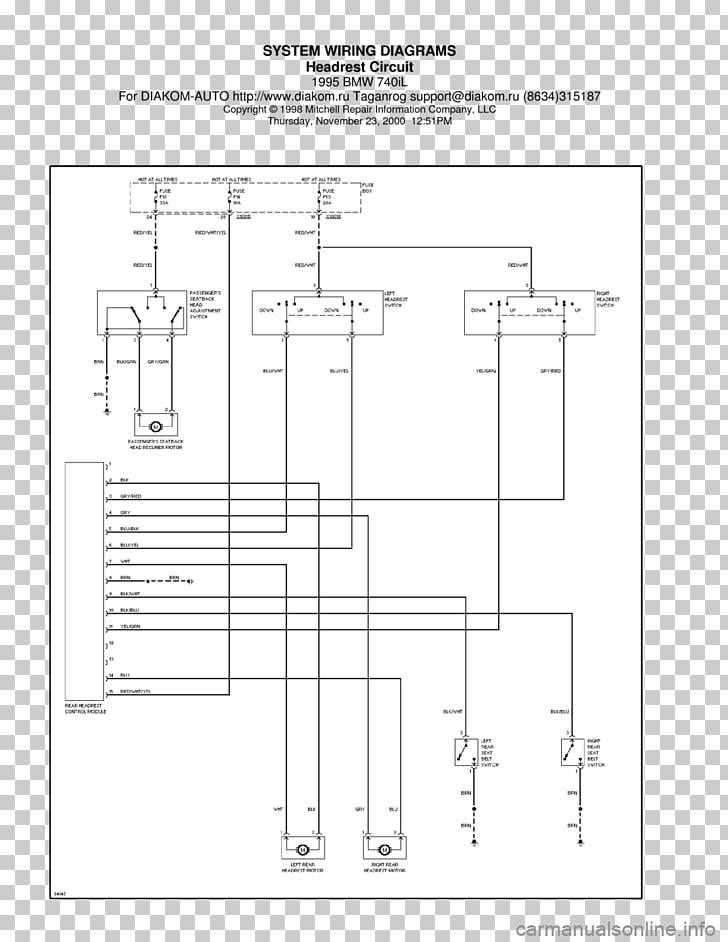Yk 5742 1995 Bmw 740il Series Electrical Wiring Diagram Schematic Wiring