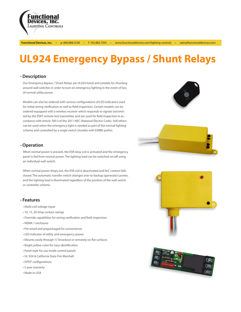 Cool Ul924 Emergency Bypass Shunt Relays Wiring Cloud Grayisramohammedshrineorg