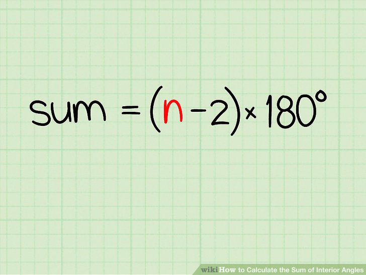 Enjoyable How To Calculate The Sum Of Interior Angles 8 Steps Wiring Cloud Grayisramohammedshrineorg