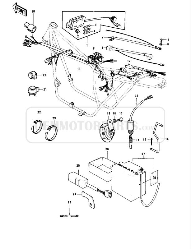 Yl 7939  Motorcycle Wiring Diagrams Also Kawasaki Kz1000
