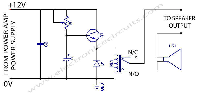 Brilliant Power Amplifier Speaker Protection Circuit Schematic Electronic Wiring Cloud Rineaidewilluminateatxorg